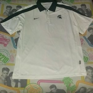 Nike Michigan State Spartan Jersey Polo Shirt MSU